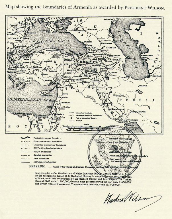 Map of Wilsonian Armenia